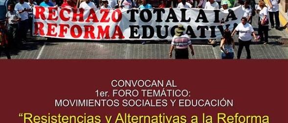 FORO: MOVIMIENTOS SOCIALES Y EDUCACIÓN